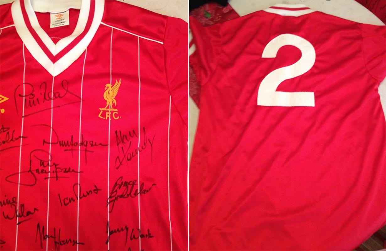 b75a99df214 1982-83 Friendly main team Home replica shirt short sleeve № 2 (felt UMBRO  logo and Liverbird   without CROWN PAINTS logo