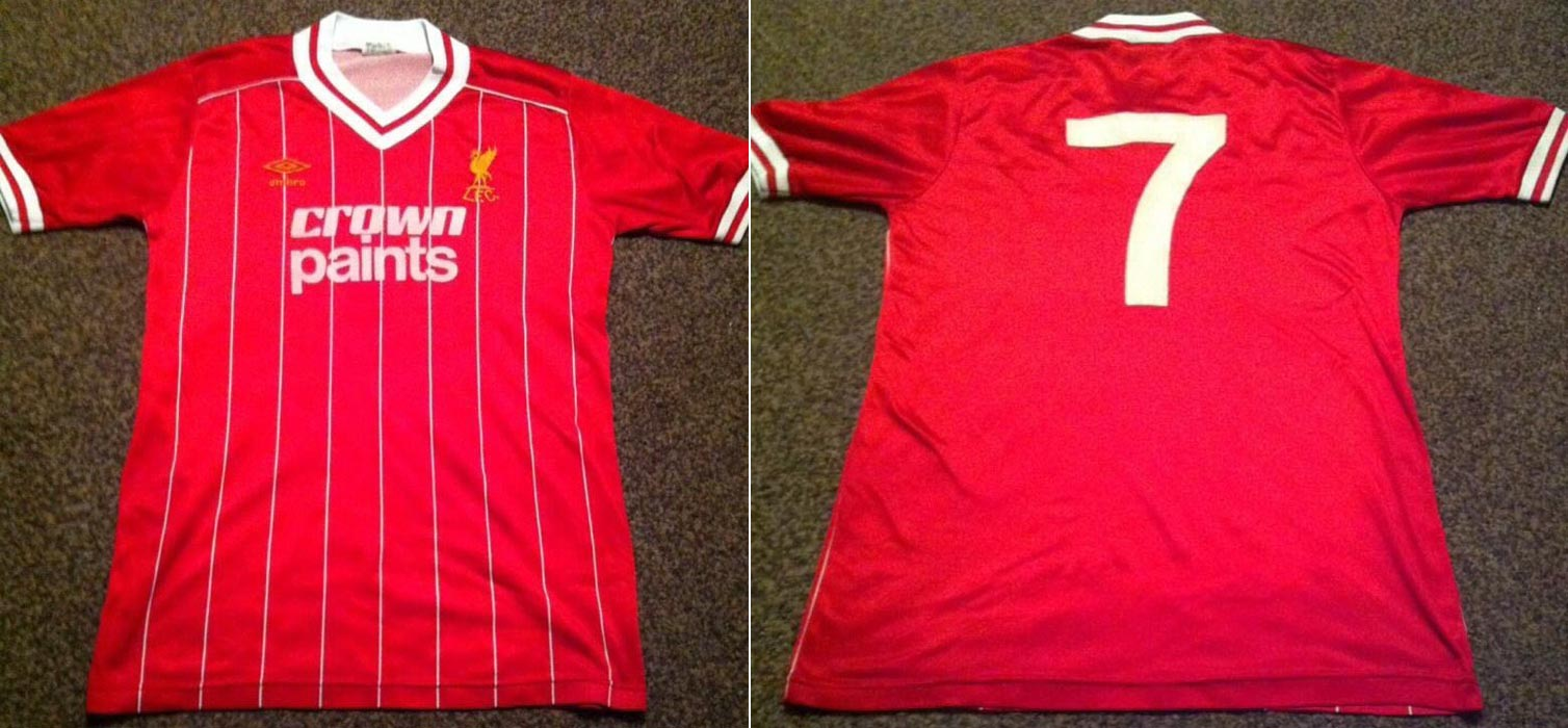 save off 6f5ca 52056 The History Liverpool F.C. Kits 1984 - 1985