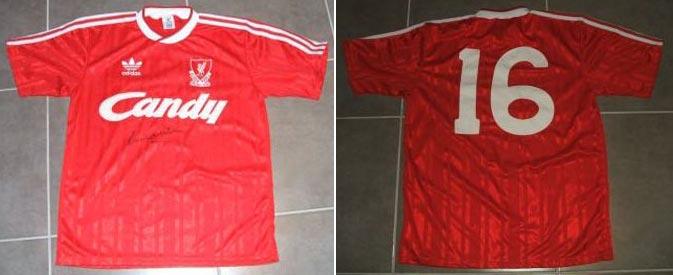 buy online ea0d9 77563 The History Liverpool F.C. Kits 1988 - 1989