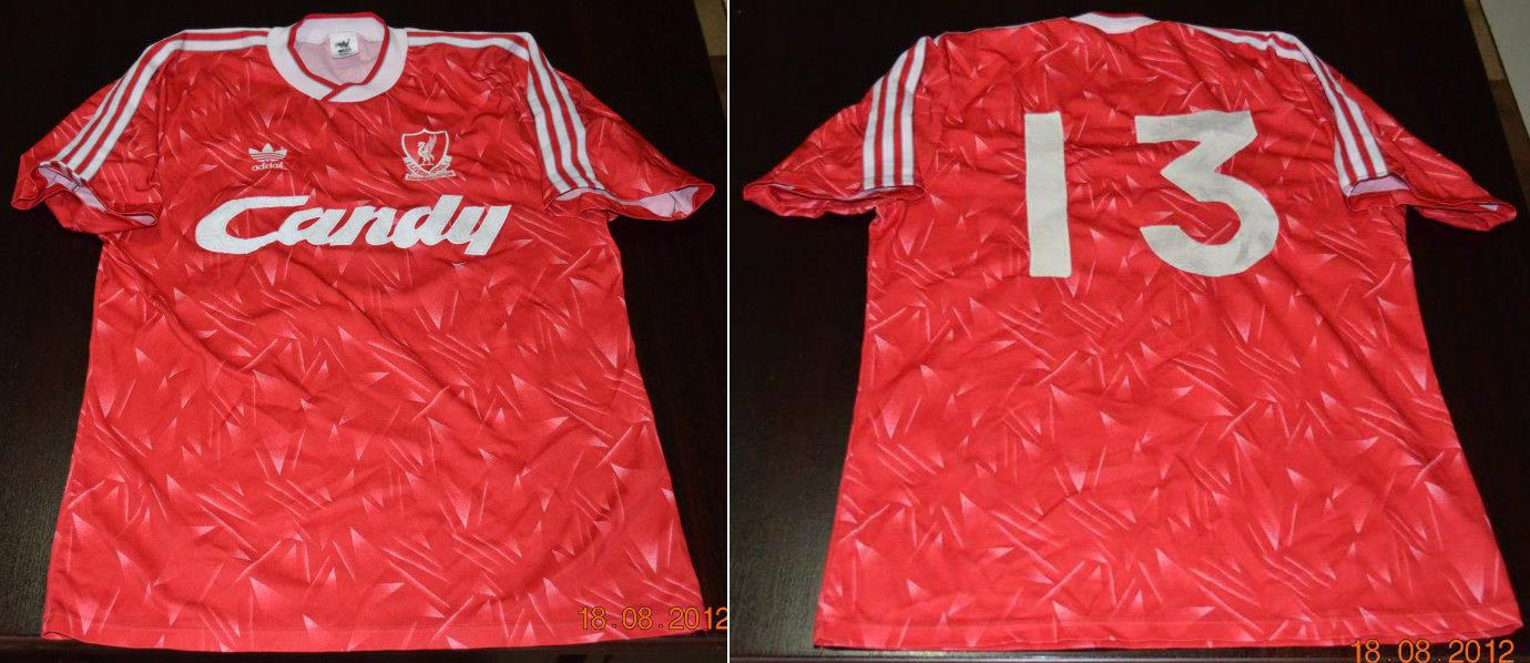 low priced d7680 67f06 The History Liverpool FC Kits 1989 - 1990