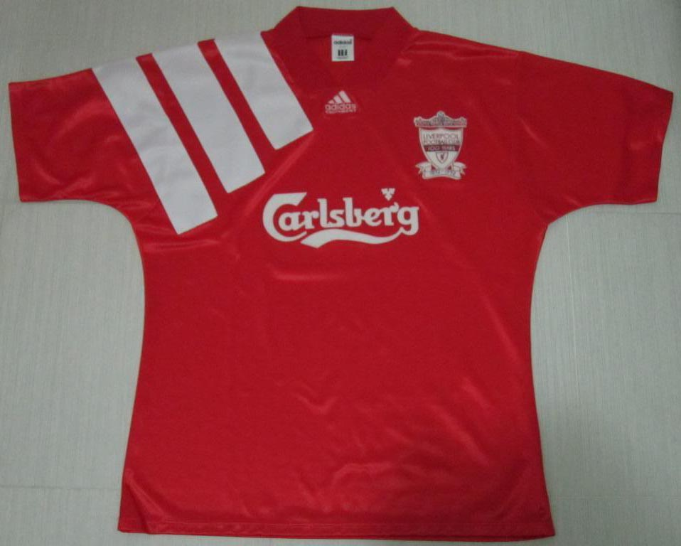 766ced2e6 Liverpool FC Home players kits 1992 - 1993