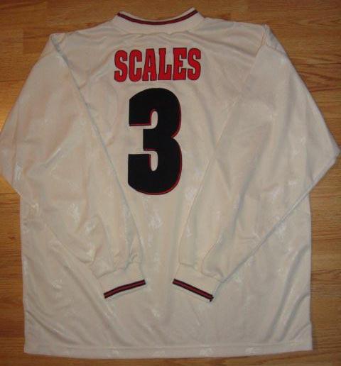 418d61ef799 1996-97 Cup Winner Cup Away player shirt short sleeve № 3 John Scales (no  REEBOK letters   small Carlsberg logo) -