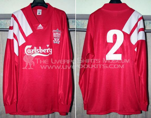 factory authentic 8ddb6 b3956 The History Liverpool FC Kits 1992 - 1993