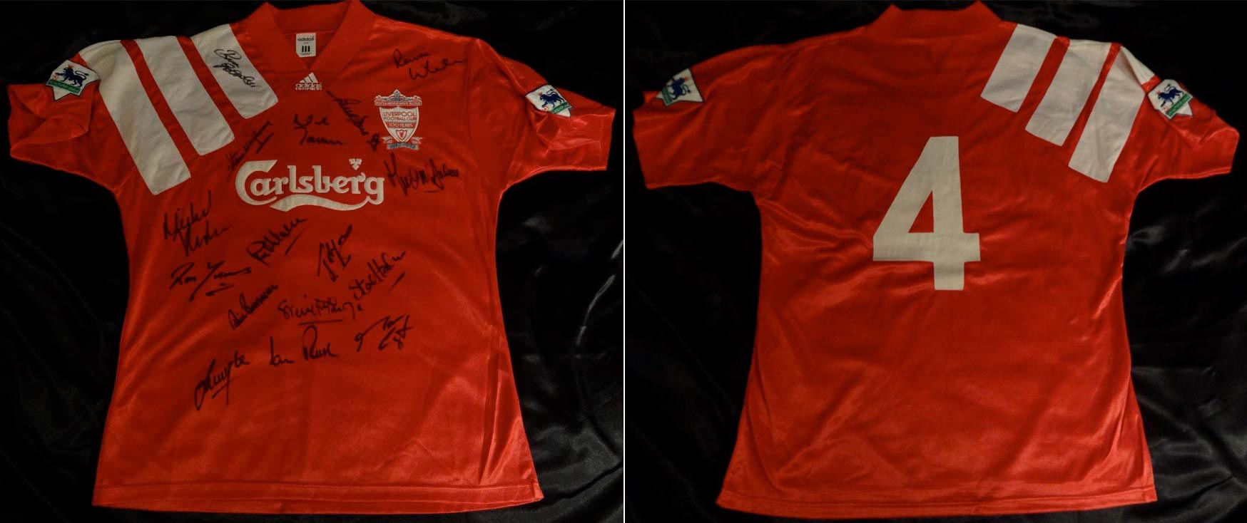 40cdb4bdf25 1992-93 Premier League Home player shirt short sleeve № 4 Steve Nicol  (patches Premier League