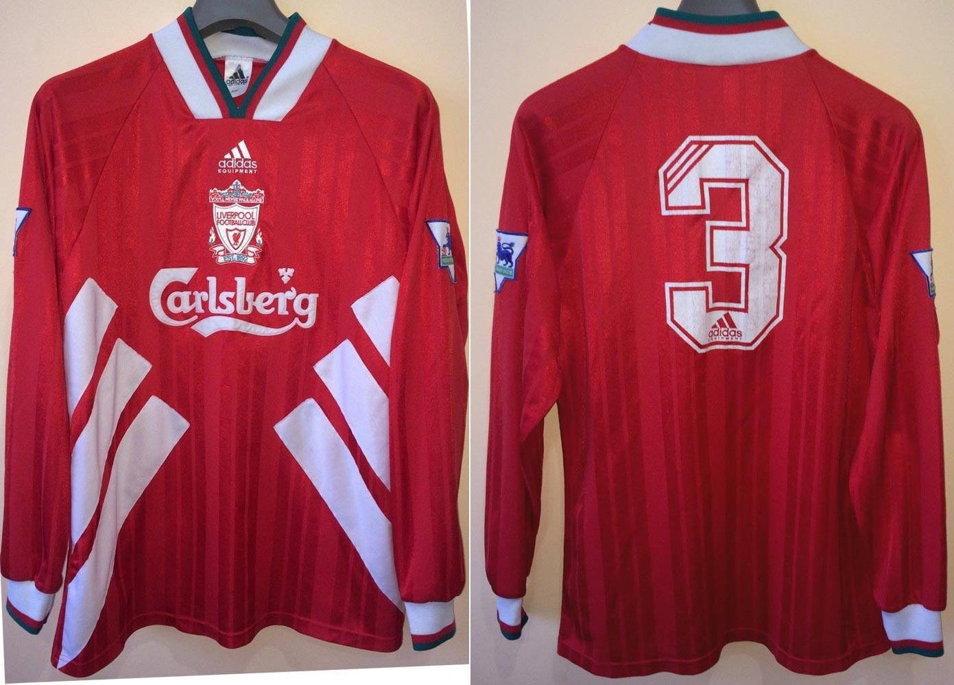 6f61983e3 1993-94 Friendly main team Home player shirt long sleeve № 3 Julian Dicks  (small Carlsberg logo) - image with site eBay www.ebay.com