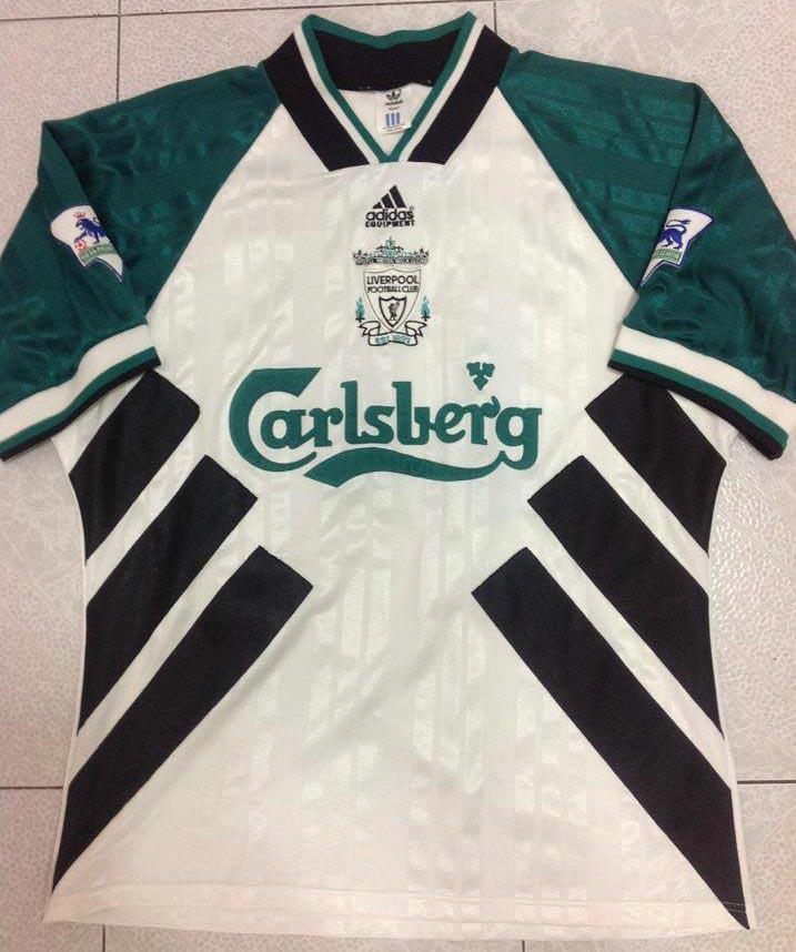 wholesale dealer dce49 147ed The History Liverpool F.C. Kits 1994 - 1995