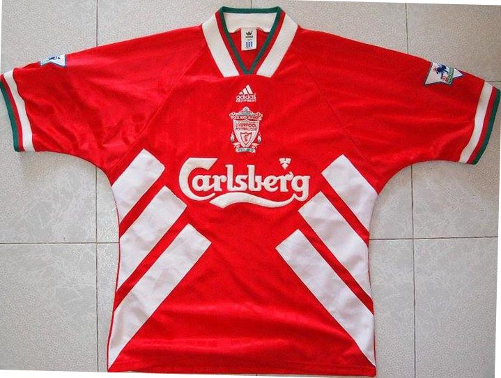 The History Liverpool F C  Kits 1994 - 1995
