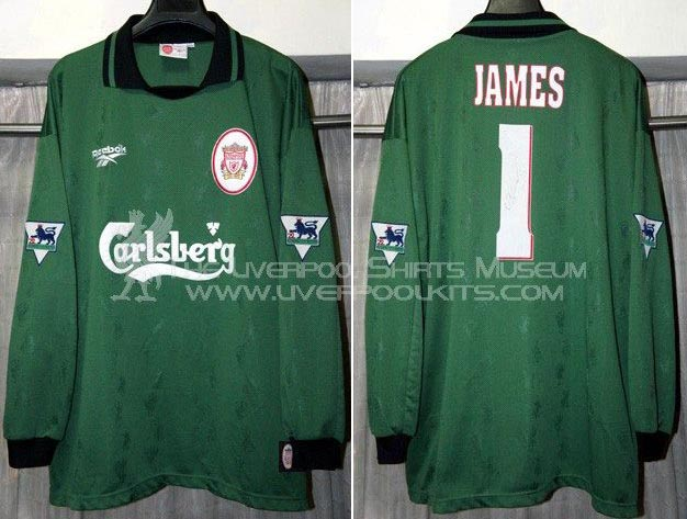 online store f8505 48cce The History Liverpool F.C. Kits 1996 - 1997