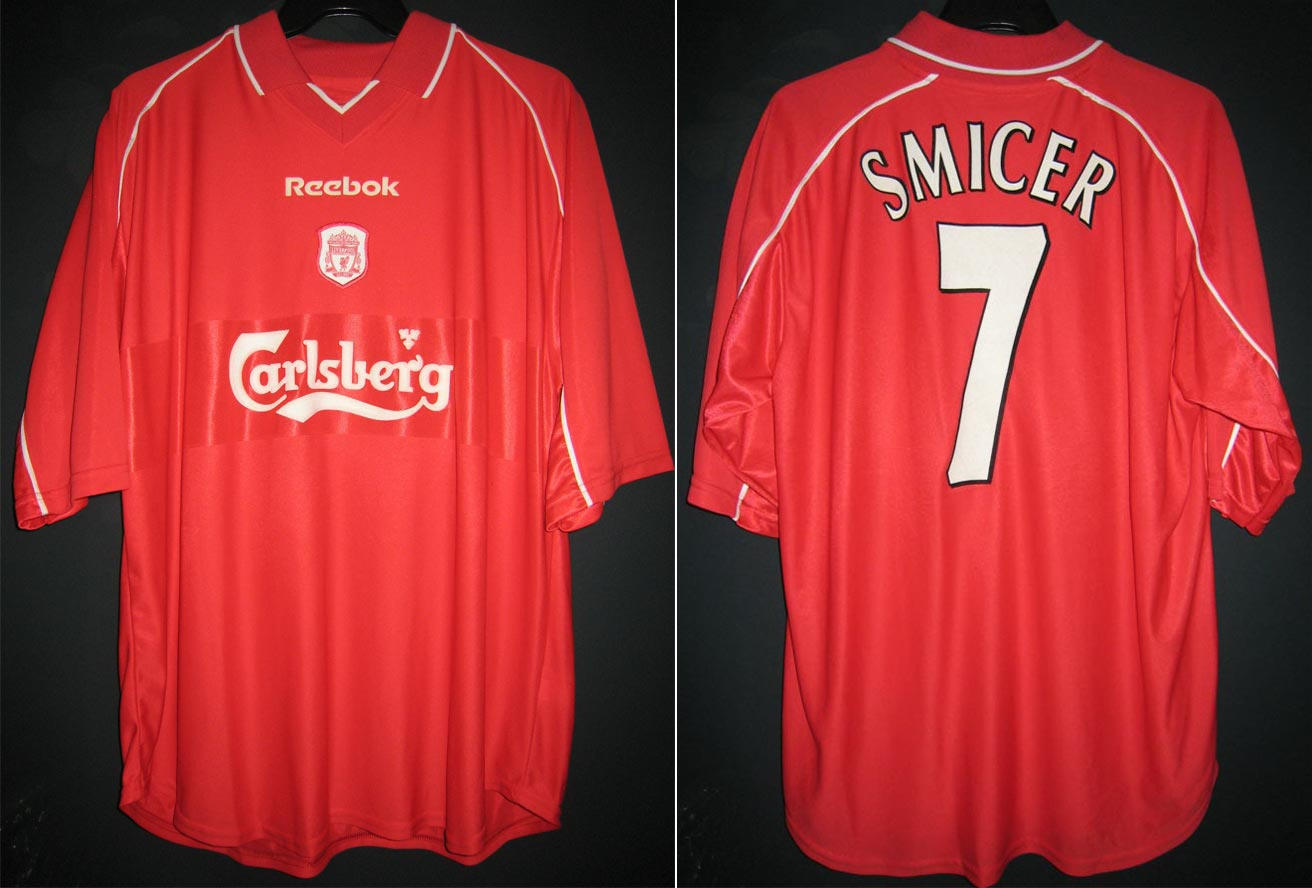 free shipping b31ec 4c3a0 The History Liverpool F.C. Kits 2000 - 2001