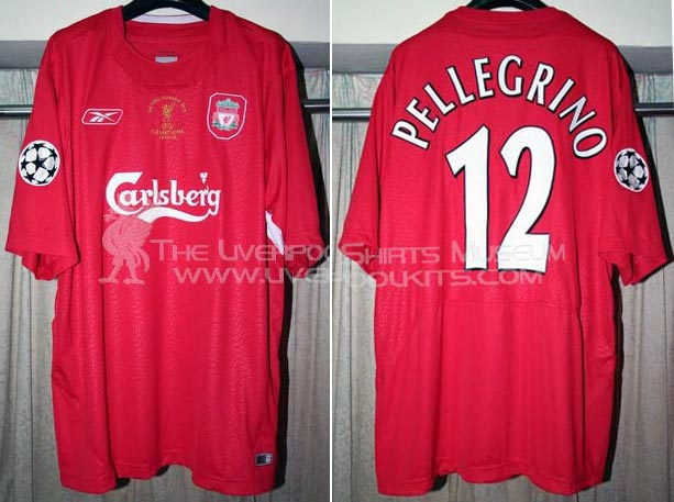 low priced 6d206 0da20 Liverpool FC Home players kits 2004 - 2005