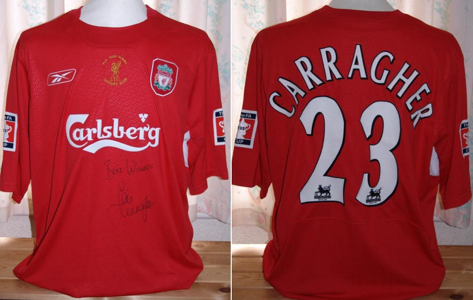 a0236a773 2005-06 FA Cup Final Home player shirt short sleeve   23 Jamie Carragher -