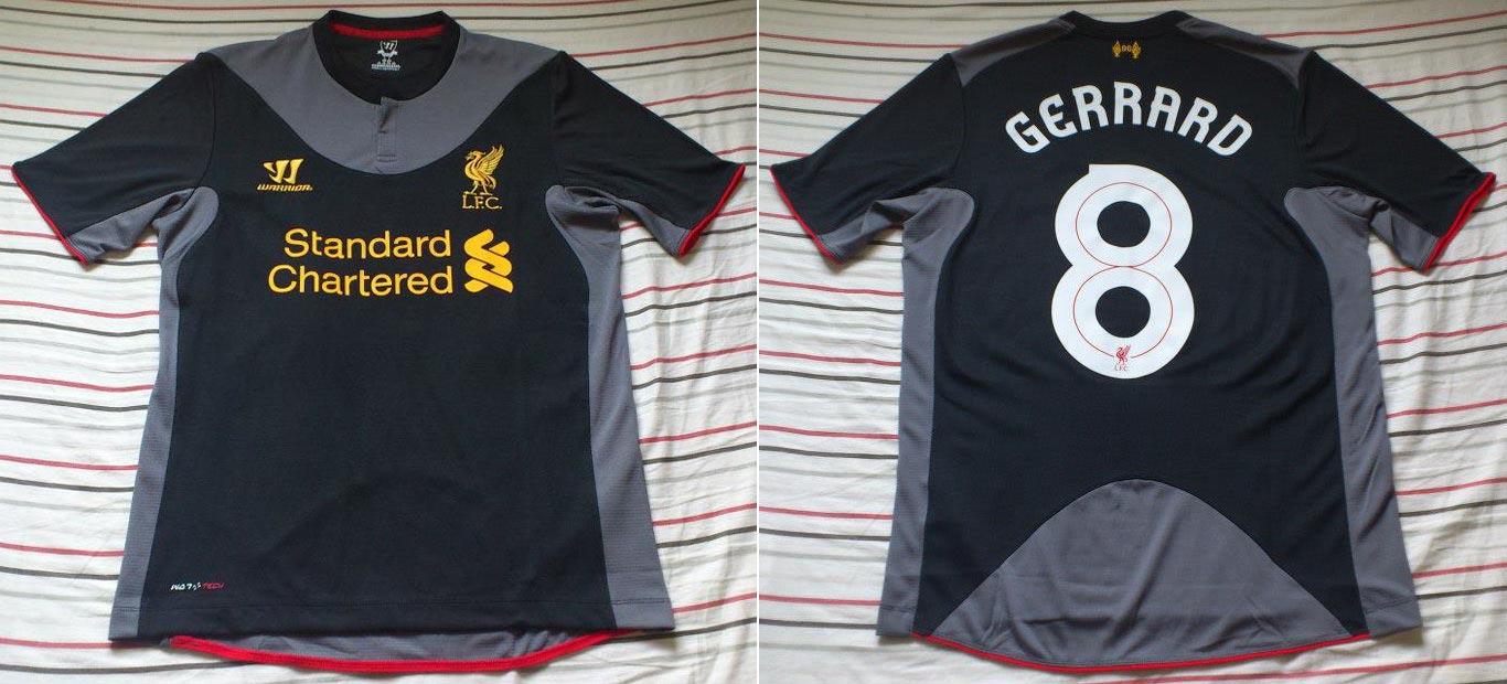 designer fashion a0e6b 747be The History Liverpool F.C. Kits 2012 - 2013