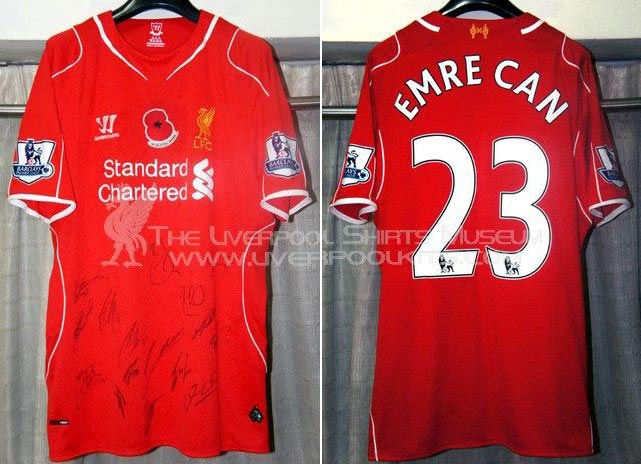 dd9a812e8 2014-15 Premier League Home player shirt short sleeve № 23 Emre Can  (embroider poppy badge