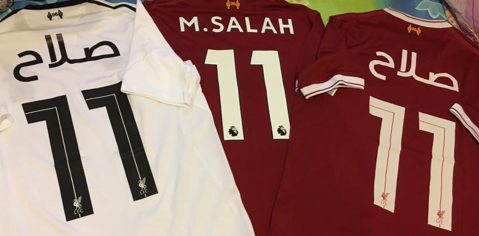22 June 2017 egyptian player Mohamed Salah sing contract with Liverpool.  With summer 2017 on official club shop can order shirts with famyly name  players in ... bb3347d0f