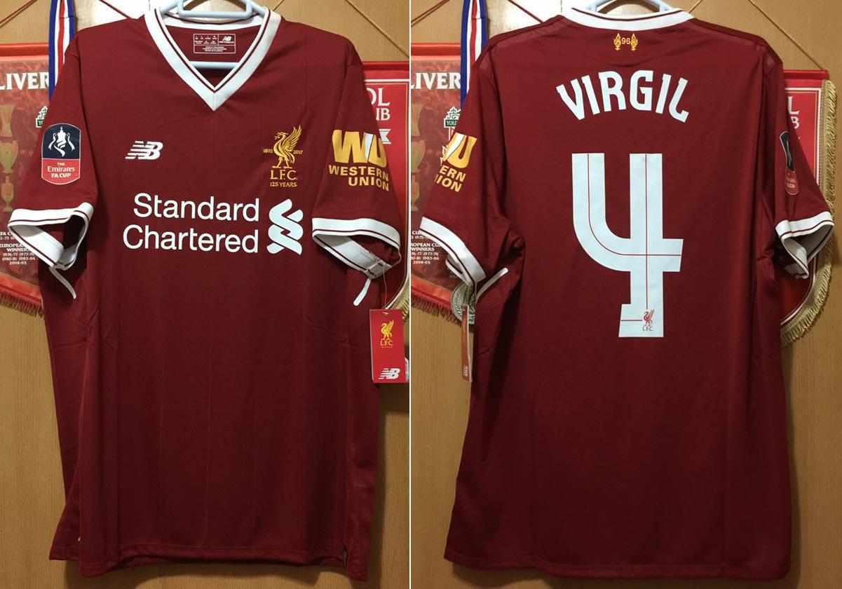 97f70545b 2017-18 FA Cup Home replica shirt short sleeve № 5 Virgil Van Dijk - image  with site www.facebook.com groups LFCSHIRT