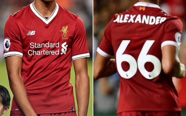 b6c47d9309e 2017-18 Premier League Asia Trophy Home player shirt short sleeve № 11  Mohamed Salah (two patches) - not now good image